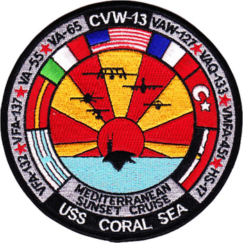 CV-43 USS Coral Sea Patch Mediterranean Sunset Cruise