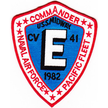 CV-41 USS Midway Patch E Commander 1982