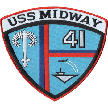 CV-41 USS Midway Large Full Back Jacket Patch