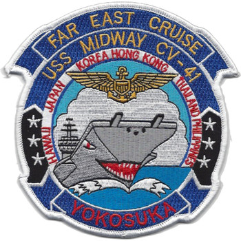 CV-41 USS Midway Far East Cruise Patch