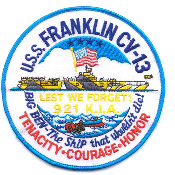 CV-13 USS Franklin Patch Small