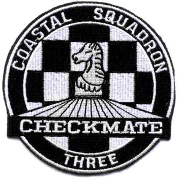 COSRON-3 Coastal Squadron Three Patch Checkmate Vietnam