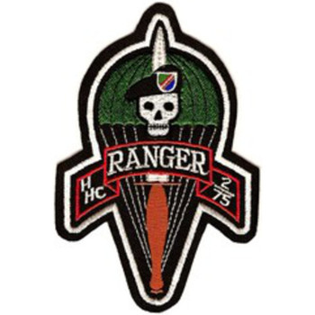 H Hc 2/75 2nd Battalion 75th Ranger Regiment Patch