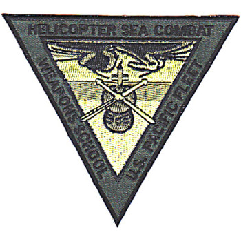 HELO Sea Combat Weapons School Patch