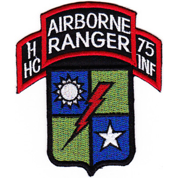 HC C Company 75th Airborne Ranger Regiment Patch