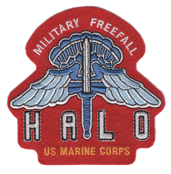 HALO Parachute Jumper Patch Military Freefall