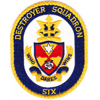 DESRON 6 Destroyer Squadron Patch