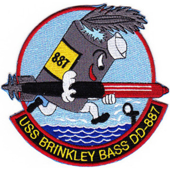 DD-887 USS Brinkley Bass Patch - Version C