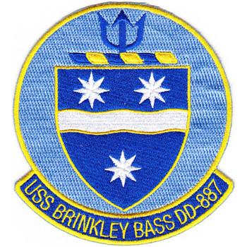 DD-887 USS Brinkley Bass Patch - Version A