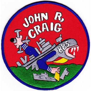 DD-885 USS John R Craig Patch - Version A