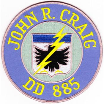 DD-885 C USS John R Craig Patch