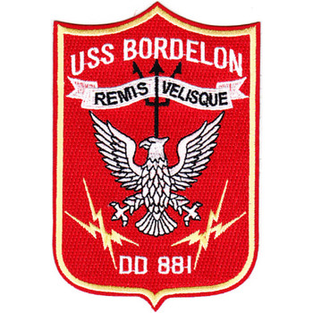 DD-881 USS Bordelon Patch