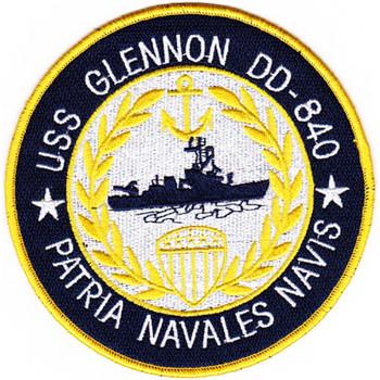 DD-840 USS Glennon Patch - Version B