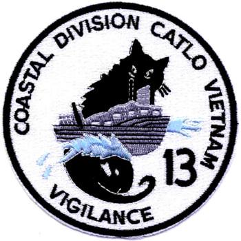 COSDIV-13 Coastal Division 13 Catlo Vietnam Patch Swift Boat Vigilance