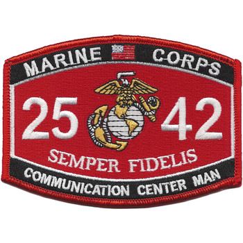 Communication Center Man 2542 MOS Patch