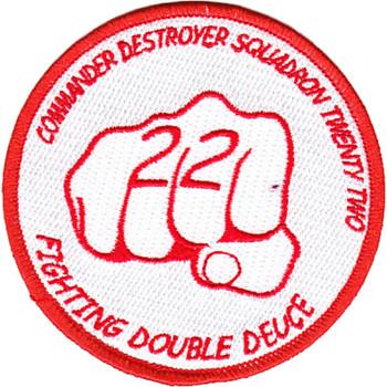 COMDESRON 22 Commander Destroyer Squadron Patch