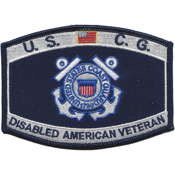 Coast Guard DAV Disabled American Veteran Rating Patch