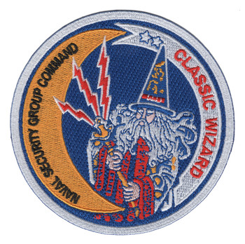Classic Wizard Patch Naval Security Group Command