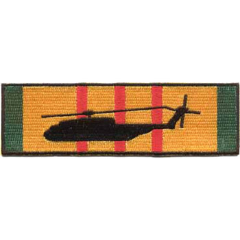 CH-53 Silhouette On Vietnam Service Ribbon Patch