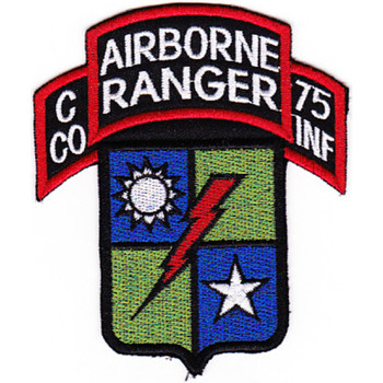 C Company 75th Airborne Ranger Regiment Patch