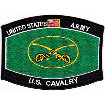 Cavalry Regiment Crossed Sabers Ballcap Patch