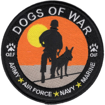 Canine Units Patch Dogs Of War