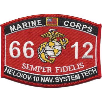 6612 HELO/OV-10 Navigation Systems Technician MOS Patch
