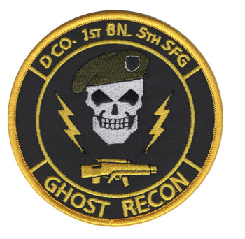 D Company 1st Battalion 5th Special Force Group Ghost Recon Color Patch