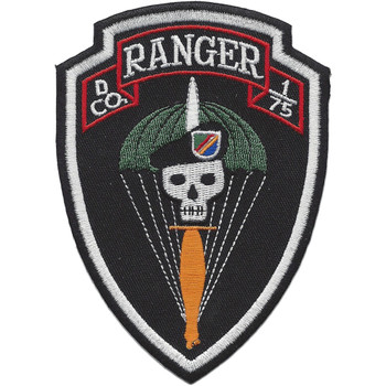 D Company 1st Battalion 75th Ranger Regiment Patch