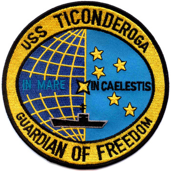 CVS-14 USS Ticonderoga Patch Guardian Of Freedom