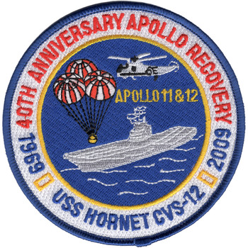 CVS-12 USS Hornet Patch 40th Anniversary Apollo Recovery