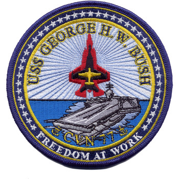 CVN-77 USS George H W Bush Patch