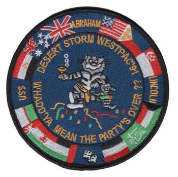 CVN-72 USS Abraham Lincoln Desert Storm Westpac '91 Patch