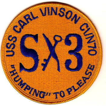 """CVN-70 USS Carl Vinson Patch """"Humping"""" To Please"""