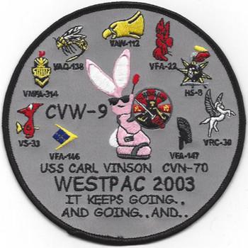 CVN-70 Carl Vinson Cvw-9 Patch Westpac 2003