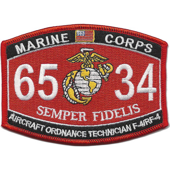 6534 Aircraft Ordnance Technician F-4/RF-4 MOS Patch