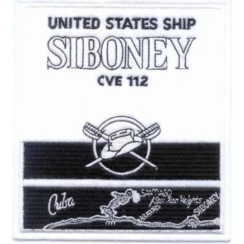 CVE-112 USS Siboney Stenson and Crossed Sabers Patch