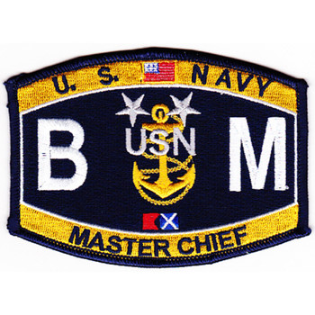 BMCM Navy Master Chief Boatswain's Mate Rating Patch
