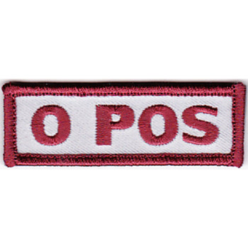 Blood Type O Positive Desert Version A Patch Hook And Loop