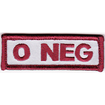 Blood Type O Negative Desert Version A Patch Hook And Loop