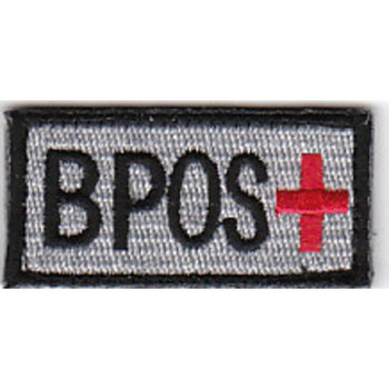 Blood Type B Positive Silver Patch Hook And Loop