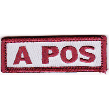 Blood Type A Positive Desert Version A Patch Hook And Loop