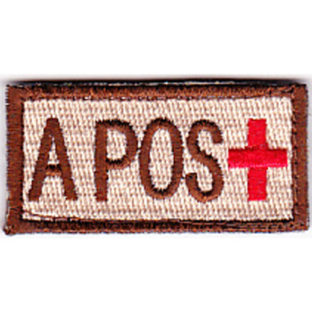 Blood Type A Positive Desert Patch Hook And Loop