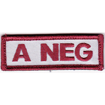 Blood Type A Negative Desert Version A Patch Hook And Loop