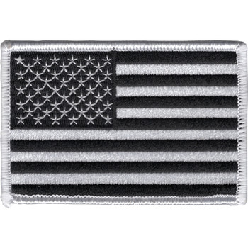 Black And White USA United States Flag Patch