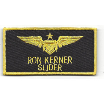 Aviation Pilot Black Wings Slider Patch Hook And Loop