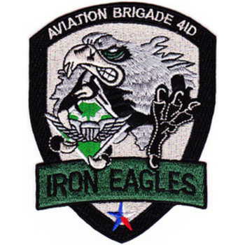 Aviation Brigade 4th Infantry Division Patch Iron Eagles