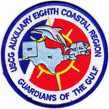 Auxiliary Eighth Coastal Region Patch Guardians Of The Gulf