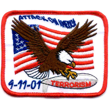 Attack On America 9-11-01 Terrorism Flag Patch