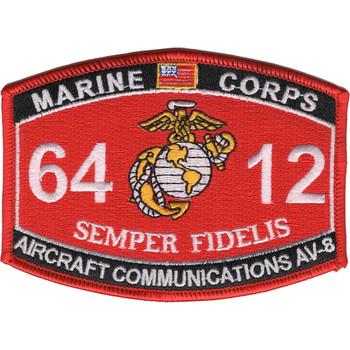 6412 Aircraft Communications AV-8 MOS Patch